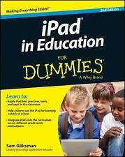 iPad in Education For Dummies, Gliksman, Sam, Good Condition, Book