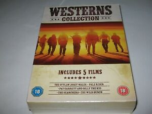 WESTERNS COLLECTION - NEW 5 FILM DVD BOX SET  Searchers  Wild Bunch  Josey Wales