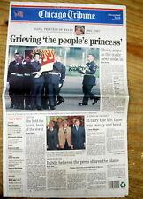 <1997 headline newspaper DIANA Princess of WALES DIES in car crash  PARIS France