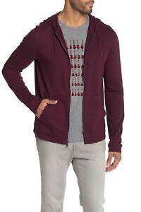 John Varvatos Star USA Men's Wine Red Embroidered Stars Full Zip Hoodie $178