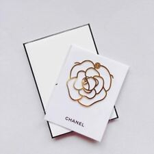CHANEL VIP BEAUTY GIFT Camellia Metal Book Mark GOLD