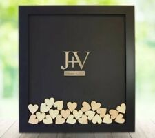Personalised Alternative Guestbook Signature hearts drop frame with 100 hearts