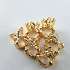 10pcs Gold Tone Alloy Crown Charm Pendant Jewelry Finding 12*12*10mm  37805