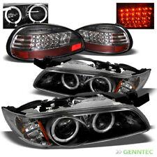 For 97-03 Pontiac Grand Prix Twin Halo Pro Headlights+LED Tail Head Lights