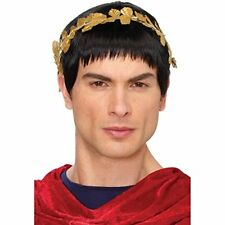 ADULT MENS HAIL CAESAR ROMAN GREEK GOD JULIUS ZEUS COSTUME WIG MALE BLACK