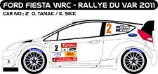DECALS 1/43 FORD FIESTA WRC - #2 - TANAK - RALLYE DU VAR 2011 - MF-ZONE D43236