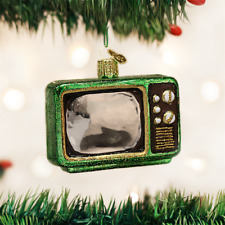 OLD WORLD CHRISTMAS RETRO TUBE TV TELEVISION GLASS CHRISTMAS ORNAMENT 32253