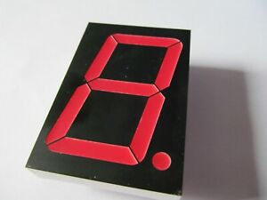CLEARANCE. LITEON LTS 23805HRB, 7 SEGMENT DISPLAY, RED ON BLACK 8 PIN, BRAND NEW