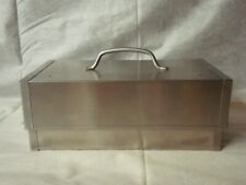 Sur La Table smoker box for grill three piece set stainless steel open box