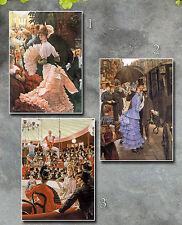 Tissot paintings 1885 Reception, Bridesmaid, Women Paris Victorian repro art lot