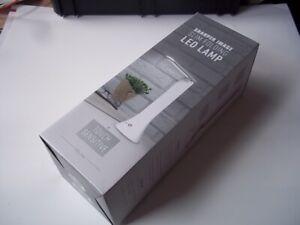 Sharper Image Slim Folding LED Lamp. USB or battery. 3 brightness settings. New.