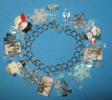 """LET IT SNOW""-CHARM BRACELET -ONE OF A KIND  HAND MADE"