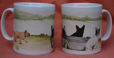 FRENCH BULLDOG MUG OFF TO THE DOG SHOW WATERCOLOUR PRINT SANDRA COEN ARTIST