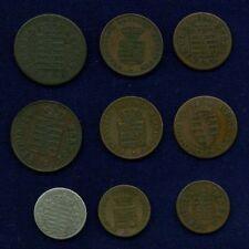 GERMANY SAXONY 1834 3 KREUZER, 1831 & 1832 1 KREUZER,..