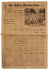 JFK John F. Kennedy Assassination Dallas 11/30 Paper