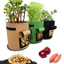 Potato Grow Bags With Flap Breathable Felt Pot For Grow Vegetables New Bucket HD