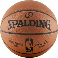 New Spalding Basketball NBA Official Game Ball, Leather, Official Size 74876