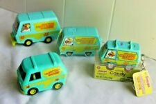 LOT f 4 vintage Scooby Doo Mystery Machine Mini Van Vehicle Collection