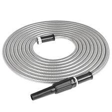 25/50/75/100FT Stainless Steel Metal Garden Hose Lightweight Kink-Free Stronger