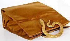 PRADA~Snake Brass Handle~Gold Satin~Vintage Rare 1960's~Evening Bag~Purse Tote
