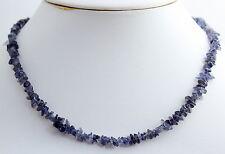 Iolita aprox. 45cm largos cadena de minerales, collar, picado, con cierre NUEVO