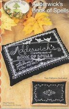 Crabapple Hill Embroidery 'ADDERWICK'S BOOK OF SPELLS' Halloween two patterns