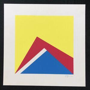 Winfred Gaul, ohne Titel, Farbsiebdruck, 1970, handsigniert