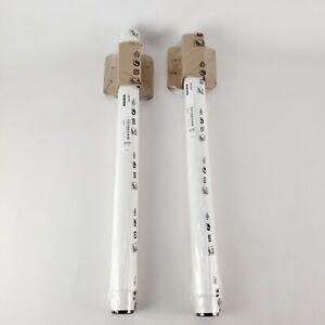 "(Lot of 2) Ikea Olov Leg Adjustable White 102.643.02 Single Leg 35 3/8"" Max"