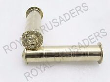 "NEW ROYAL ENFIELD BRASS HANDLE GRIP LION FACE 7/8"" #RE93 (CODE-2118)"