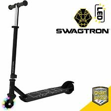 Swagtron Sk3 Electric Scooter w/Led Wheels & Kick-Start Boost for Kids