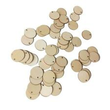 50X 2/3/4/5CM DIY Wood Slices Round Ornament for Scrapbooking Paper Crafts Decor