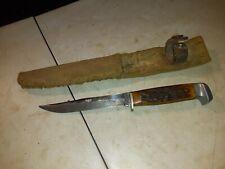 CASE XX  FIXED BLADE HUNTING KNIFE STAG HANDLE W/ SHEATH