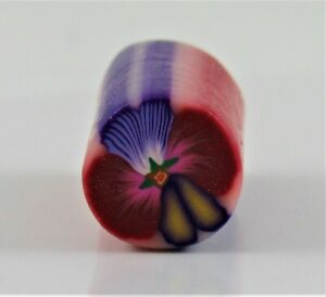 Polymer Clay Cane,Pansy Flowers by Jane Z handmade Choose Colors New & Raw Premo