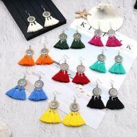 Fashion Bohemian Elegant Crystal Tassel Earrings Long Drop Dangle Women Jewelry