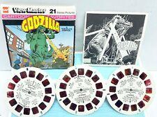 GAF J23 Godzilla In Godzilla's Rampage Viewmaster Reels Packet Set Of 3 Reels