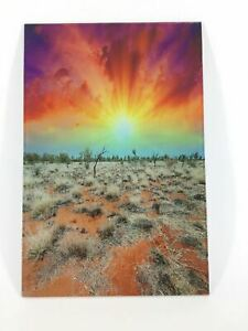 Desert Sunset Photograph Print on Acrylic AU Sellers 30cm x 20cm Great Xmas Gift