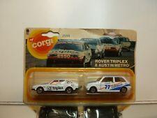 CORGI TOYS 2595 ROVER 3500 TRIPLEX - AUSTIN METRO DATAPOST - GOOD - BLISTER-CARD