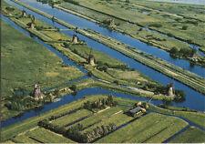 Alte Postkarte - Panorama Molens Kinderdijk