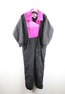 Vintage 90s Streetwear Womens Large Insulated Color Block Skiing Snow Suit Nylon