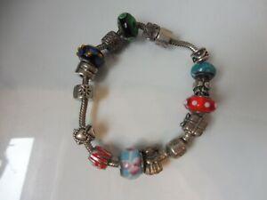Très Beau Bracelet, Pandora, 925 Argent, Bracelet de Charme, 56,2 Gramme