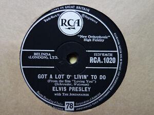 ELVIS PRESLEY - Got A Lot O' Livin' To Do / Party 78 rpm disc (A++)