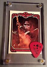 KISS Ace Frehley Donruss card #5 / official red signature guitar pick display!