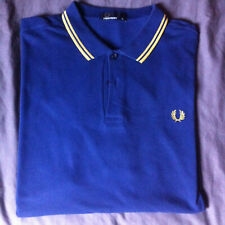 RARE Polo Fred Perry M3600 Royal Blue / Champagne XL