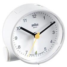 Braun BNC001 Quarzwecker analog Wecker Uhr weiß NEU