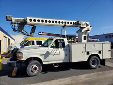 1996 FORD F-450 TELSTA, BUCKET TRUCK , CABLE PLACER