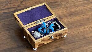 Antique Victorian Tortoiseshell Jewellery Ring Trinket Box Casket