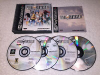 Final Fantasy IX (PlayStation PS1, 2000) Black Label Game in Case w/Manual Exc!