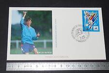 ENVELOPPE 1er JOUR PHILATELIE 1996 FRANCE 98 COUPE MONDE FOOTBALL MARSEILLE JOIE