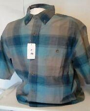 NEW Redhead Men's Short Sleeve Plaid Button Front Shirt Size Medium