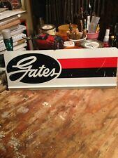 """Vintage Gates Fan Belts Metal Rack Topper Display Sign 17.5� x 6.5"""""""
